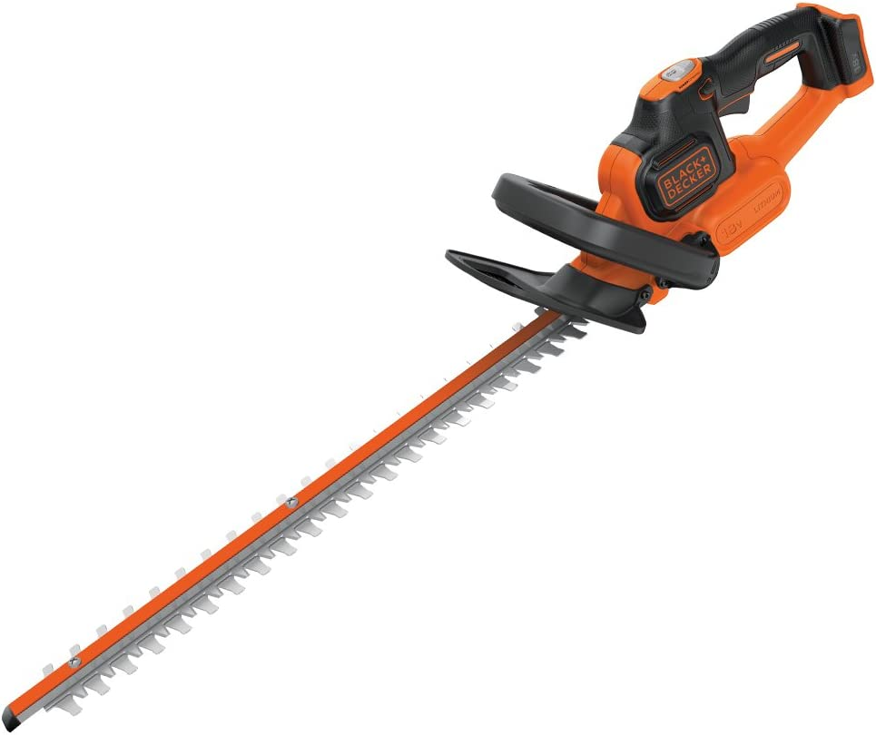 Bare Unit BLACK+DECKER 18V Cordless 45cm Anti-Jam Hedge Trimmer Battery not I