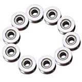 10 Pcs V624ZZ V Groove Ball Bearing Pulley For Rail Track Linear Motion System 4×13×6mm