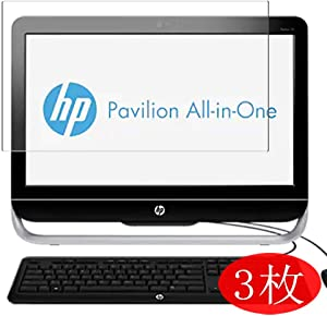 "【3 Pack】 Synvy Screen Protector for HP Pavilion 23-g300 All-in-One AIO 23"" TPU Flexible HD Film Protective Protectors [Not Tempered Glass]"