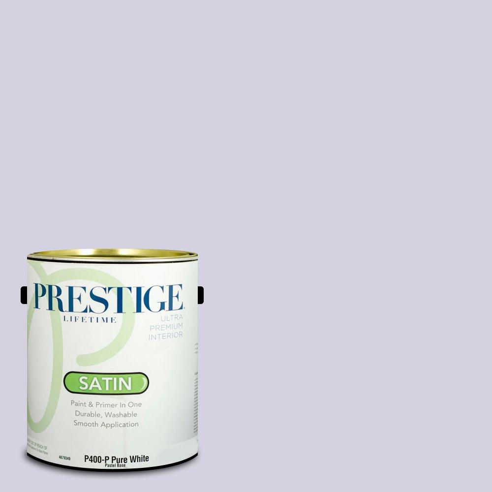 Prestige Paints Exterior 1つでペイント、プライマー、1-gallon、フラット、Comparable一致のBenjamin Moore Primrose Petals 1 Gallon P400-P-1402BM 1  BM36-Spring Iris* B01NBLCQEO