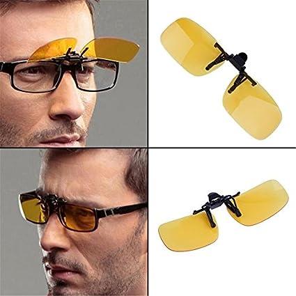 Dailyinshop Lente plegable de visión nocturna de conducción Lente fría de gafas con clip en la lente Anti-UV 400 6lbiljYAj