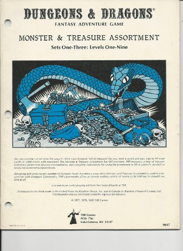 Dungeons & Dragons Monster & Treasure Assortment: Set One-three: Levels One-nine