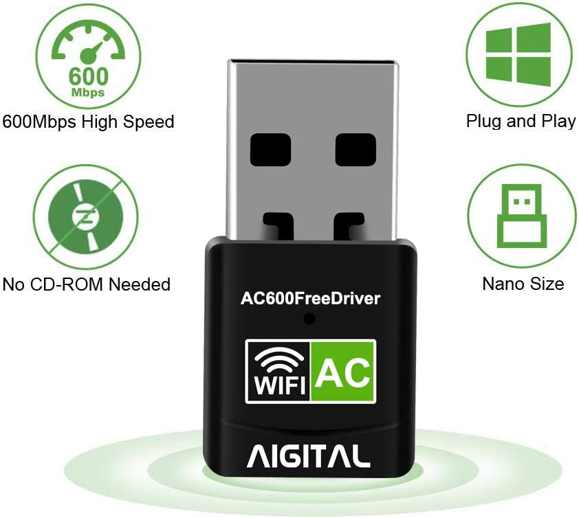 Bluetooth 4.1 Network Adapter with Built-in Antenna High Speed ​​Network Card 1200M WiFi Dual Band Portable Network Card Universal Network Card for WIN7//WIN8//WIN10//XP//VISTA