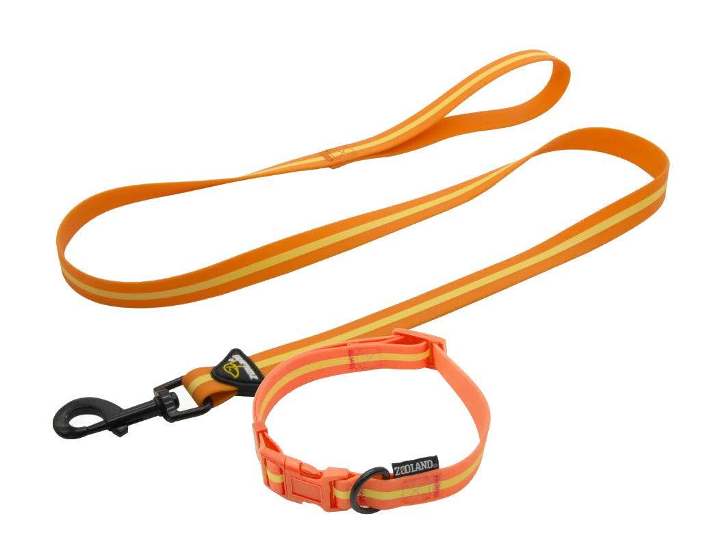 YSDTLX Guinzaglio Cane Collare Anti-Perso Luce Pet Trazione Set Cane Taglia, Giallo, 3350Cm