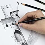 Tombow 61107 MONO J Drawing Pencil Set with Eraser, 6-Pack. Extra-Refined Graphite Pencil Set With Tombow MONO Eraser