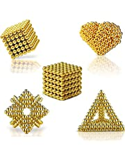 Creative Toy Stress Relief Game [216 pcs] Magnetic Ball Puzzle for Kids Children Adults - Gold
