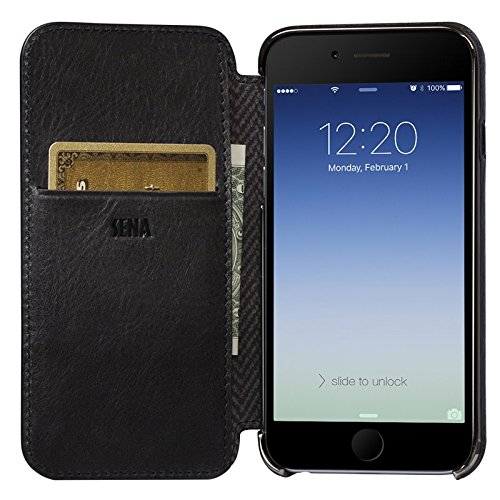 purchase cheap 17761 ee753 Amazon.com: Sena Ultra Thin Wallet Book, Thinnest Leather wallet ...