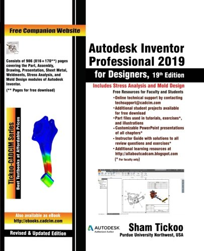 Autodesk Inventor Professional 2019 for Designers, 19th