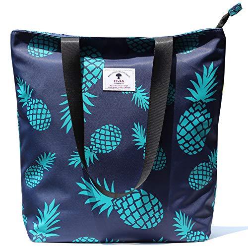 Original Floral Tote Bag Shoulder Bag for Gym Hiking Picnic Travel Beach ([W] upgraded large size 5)