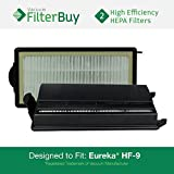 2 - Eureka HF-9 (HF9) HEPA Replacement Filters, Part #s 60951, 60951A, 60951B, 60285. Designed by FilterBuy to fit Eureka Victory Upright Vacuum Cleaners.