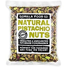 Gorilla Food Co. California Pistachio Nuts Shelled Nutmeats (No Shell) Kernels Raw Unsalted (Fresh Crop Now in Stock!) - 8oz Resealable Bag