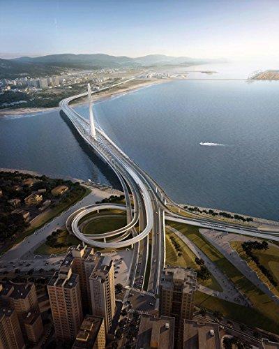 Gifts Delight Laminated 24x30 Poster: Zaha Hadid Architects Danjiang Bridge in Taipei, Taiwan - eVolo Architecture Magazine