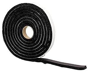M-D Building Products 6593 Sponge Rubber Tape, 1/4-by-3/4-Inch-by-10 feet (Closed Cell), Black