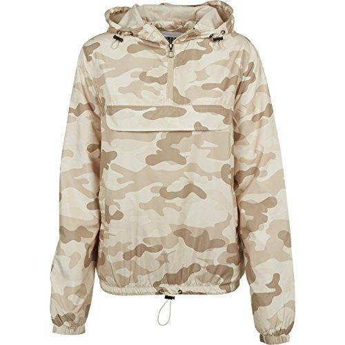 Urban Classics Ladies - Pull Over Jacket Sand Camo - XS (Sand Camo)