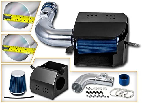 Filter Combo BLUE Compatible For 13-15 Scion FR-S//Subaru BR-Z L4 2.0L Cold Air Intake System with Heat Shield Kit
