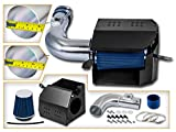 Scion FR-S Air Filters & Components - Cold Air Intake System with Heat Shield Kit + Filter Combo BLUE Compatible For 13-15 Scion FR-S/Subaru BR-Z L4 2.0L