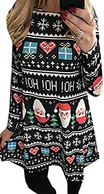 For G and PL Women Christmas Long Sleeve Dress