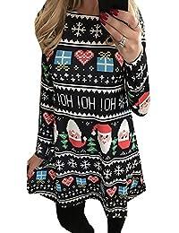 Women Christmas Long Sleeve Dress