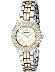 Armitron Womens 75/5332MPTT Swarovski Crystal-Accented Two-Tone Bracelet Watch