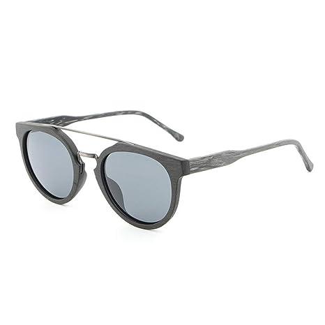 Man&Y Madera Mano Hacer Grano Grano Gafas de Sol polarizadas ...