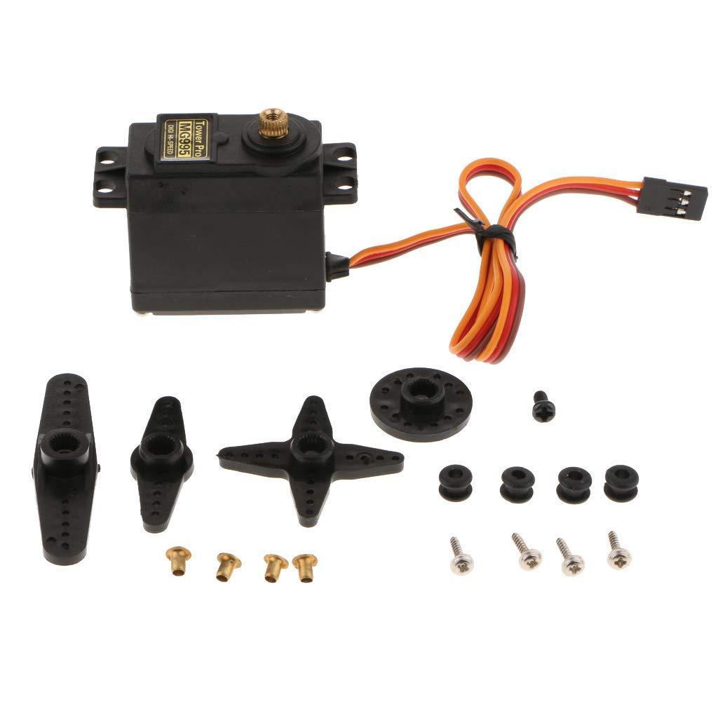 B Blesiya Motor Servo Dedicado de Modelo de Robot de Engranaje de Metal 15kg / cm
