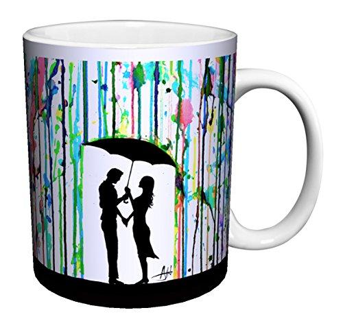 Couple Under Umbrella - 3