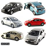 Diecast Cars-Set of 4 Cars: 5 inches Toyota Prius 1/34 Scale Kinsmart Toys
