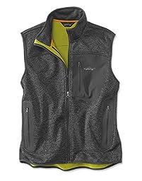 Orvis Men\'s Windproof Sweater Fleece Vest, Dark Gray, Large