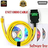 Ethernet Enet OBD Cable, OBDII Diagnostic Interface E-SYS Coding F-Series Programming OBD2 Cable