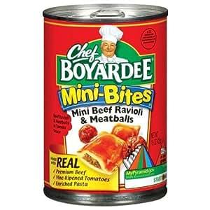 Amazon.com : Chef Boyardee Mini Ravioli with Meatballs, 15 ...