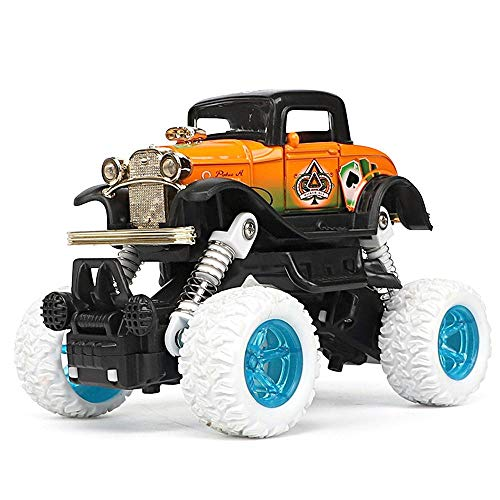 Aolvo Remote Control Car, Double Pull Drive Scale Electric High Speed RC Car Big Wheels Radio Controlled RC Race Car Fast Off Road Vehicle Toy for Kids 1:32 Scale