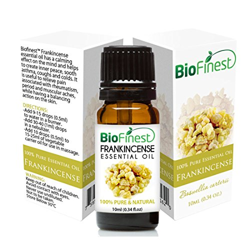 BioFinest Frankincense Essential Oil - 100% Pure Undiluted - Therapeutic Grade - Premium Quality - Best For Immune System, Wrinkles, Scars & Stretch Marks - FREE E-Book (10ml)