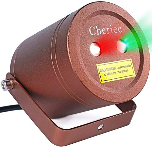 Laser Christmas Lights Outdoor Landscape Star String Projector IP65 Plastic Decoration Red & Green Laser Light in Bronze by Cheriee (Lights Green Projector Christmas)