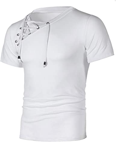 OHQ Camiseta Correas para Hombres Negro Blanco Gris Oscuro ...