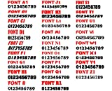 "3"" by 20"" Pair of Registration Number Decals"