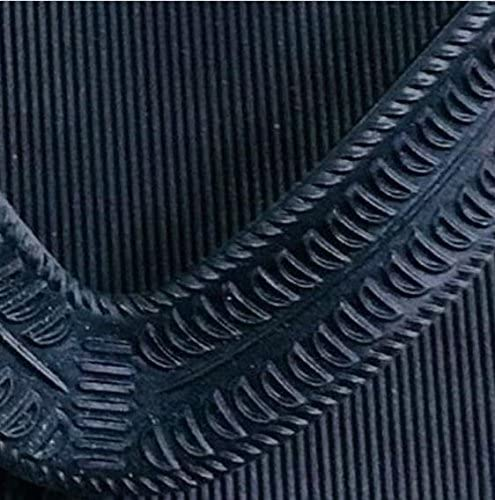Andosange Bathroom Summer Flip-Flops Imitation Wood Grain Mens Sandals Flip-Flops Beach Slippers Color : Black, Size : 44