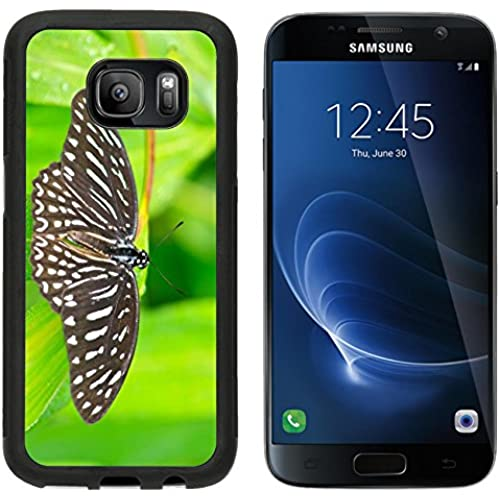 MSD Premium Samsung Galaxy S7 Aluminum Backplate Bumper Snap Case IMAGE ID 27546108 Beautiful Butterfly on leaf in a forest Sales