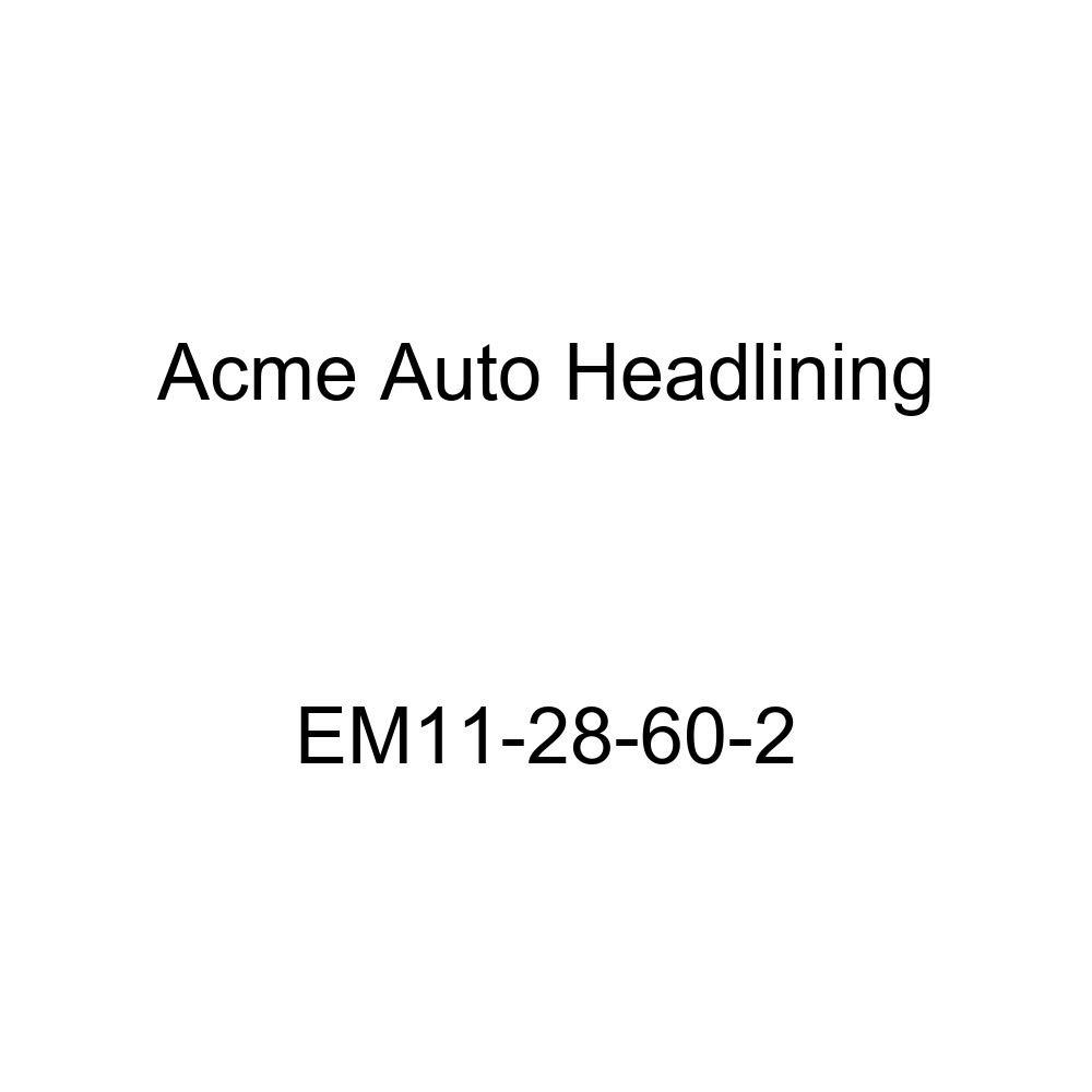 Acme Auto Headlining EM11-28-60-2 Black Replacement Headliner 1934 Buick Series 40, 50, 60, and 90 Model 57 4 Door - 6 Bow