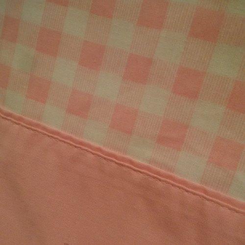Retro Pink Gingham Double Bed Sheet Set, Pink Muslin Sheet Set, Pink Gingham Fabric