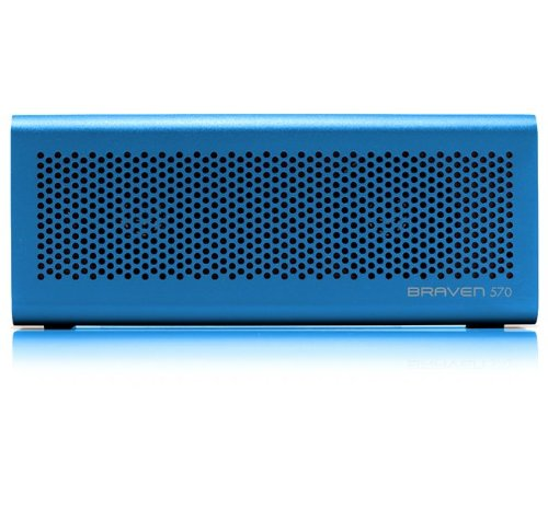 BRAVEN 570 Portable Wireless Bluetooth Speaker [10 Hour Playtime][Waterproof] Built-In 1400 mAh Power Bank Charger - Blue