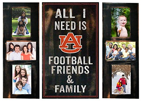 NCAA Auburn Tigers All I Need 3 piece Picture Frame (Auburn Tigers Photo Plaque)