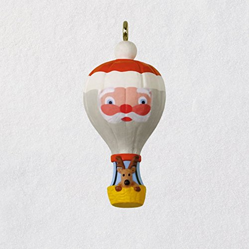 ni Christmas Ornament 2018 Year Dated, up and Away Santa Balloon Miniature, 1.31