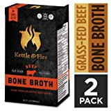 Beef Bone Broth Soup by Kettle and Fire, Pack of 2, Keto Diet, Paleo Friendly, Whole 30 Approved, Gluten Free, with Collagen, 7g of protein, 16.2 fl oz