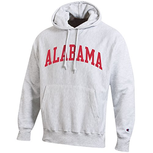 (NCAA Alabama Crimson Tide Men's Reverse Weave Hooded Sweat Shirt, X-Large, Silver/Grey)