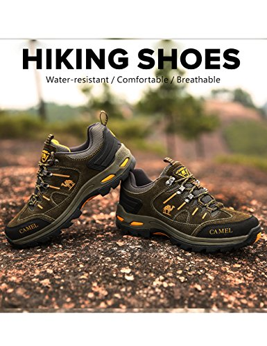Leather Shoe Hiking Trail Trek Crown Women Top Hike Camel green Men Outdoor Sneakers Sneaker Shockproof Trekking Low Shoes Men 0PFf5qw