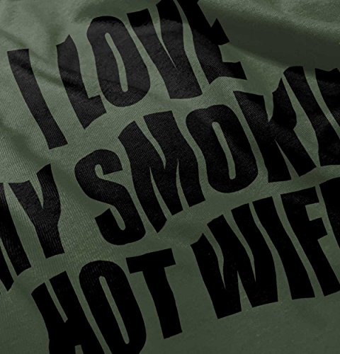 I Love My Smoking Hot Wife Sexy Husband Mother Cute Hoodie Sweatshirt by Brisco Brands (Image #4)
