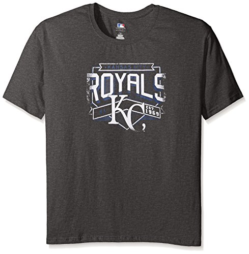 (Profile Big & Tall MLB Kansas City Royals Women's Team Short Sleeved Screen T-Shirt, 2X, Charcoal/Heather)