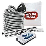 Central Vacuum 30ft 2 way hose Blackhawk electric powerhead kit Nutone Beam Eureka for Direct Connect