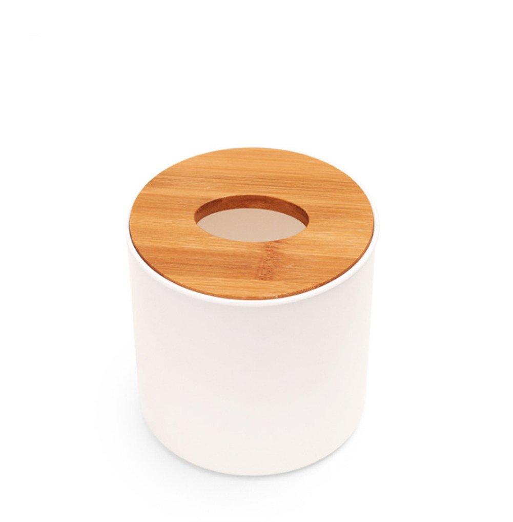 Aikesi Boîte à mouchoirs Simple créatif boîte de Papier étanche Support de téléphone Portable Multi-Fonctionnel (Carré)