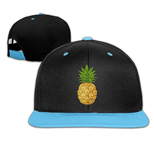 baby-cartoon-pineapple-100-cotton-royalblue-adjustable-snapback-hiphop-trucker-hat-one-size